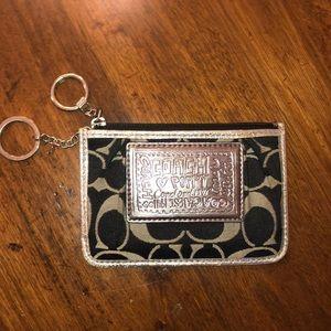 Coach Poppy Key Chain Wallet/Coin Purse